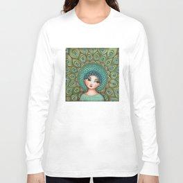 Peacock girl Long Sleeve T-shirt