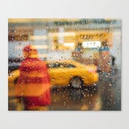 Rain Drops & Silhouettes Canvas Print