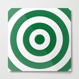 Target (Olive & White Pattern) Metal Print