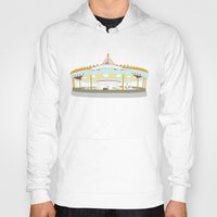 carousel Hoodies featuring Carousel - cream background by Little Moon Dance