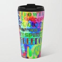Flower Power Words Of Life Travel Mug