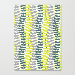 seagrass pattern - teal and lime Canvas Print