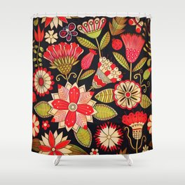 Blooms Butterflies and Ladybugs Shower Curtain