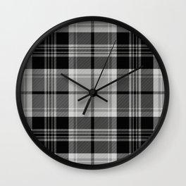 Black & White Tartan (var. 2) Wall Clock