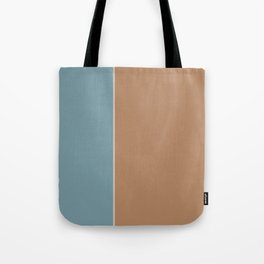 Salmon and Blue Rectangles Tote Bag