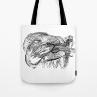 badger Tote Bags featuring Badger by MartaDeWinter