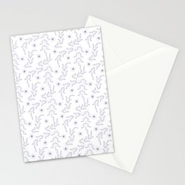Outline lear and spice, pattern, floral, flower, Stationery Cards