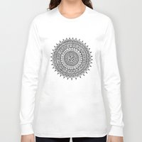 ohm Long Sleeve T-shirts featuring Ohm Mandala by Sarah Ottino