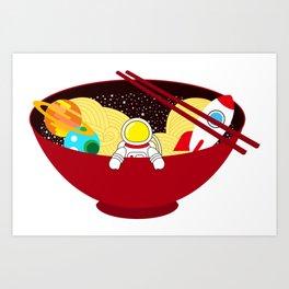 Space Odyssey Ramen | Astronaut Ramen | Bowl of Space Ramen | Galaxy in a Bowl | pulps of wood Art Print