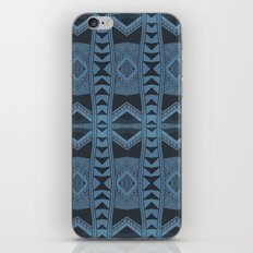 Blue Doodle Geometry  iPhone & iPod Skin