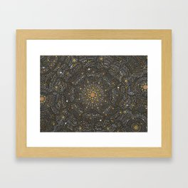 Cosmic Breath - Dot Mandala Framed Art Print