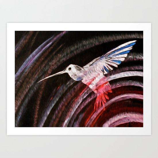 The Escape Bird of prey  Art Print