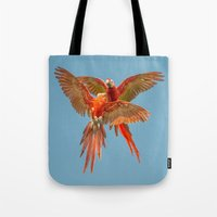 karu kara Tote Bags featuring INFLIGHT FIGHT by Catspaws