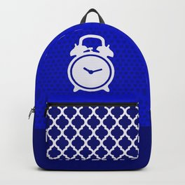Electric Blue Mornings - with white alarm clock Backpack