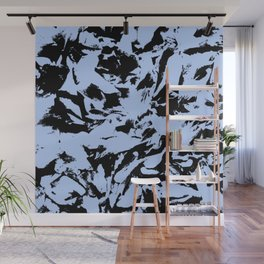 Blue Black Pattern Military Camouflage Wall Mural