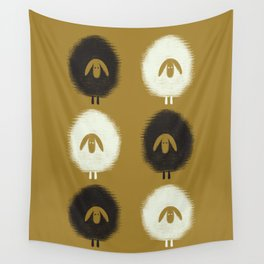 Sheep ochre Wall Tapestry