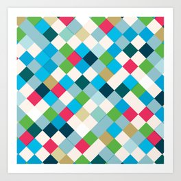 Colorful Mosaic Art Print