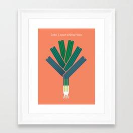 Vegetable: Leek Framed Art Print