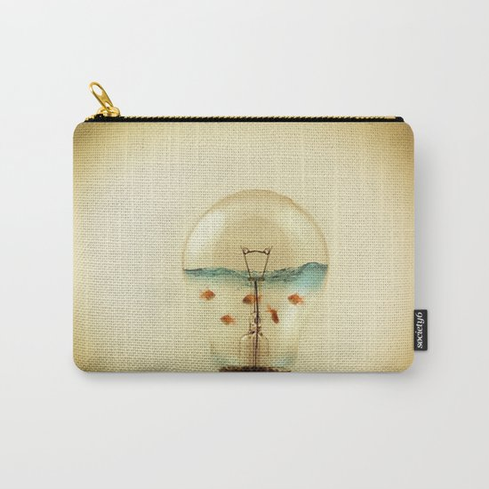 gold fish globe Carry-All Pouch