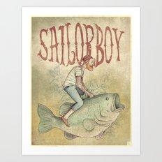 Sailorboy Art Print