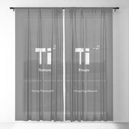 Titanium Sheer Curtain