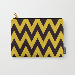 Team Spirit Chevron Yellow and Black Carry-All Pouch