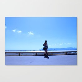 Sea and Silhouette Canvas Print