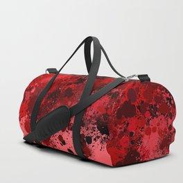 paint splatter on gradient pattern dr Duffle Bag