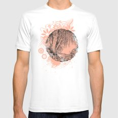Tree and flowers Mens Fitted Tee White MEDIUM