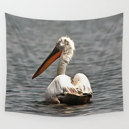 The Sea Breeze Blows The Pelican Where He Wants To Go Wall Tapestry