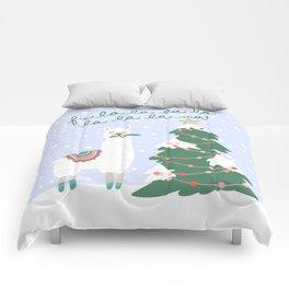 Fa la la la ma Christmas Llama Comforters