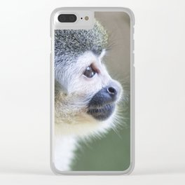 Squirrel Monkey - Animal Photography Clear iPhone Case
