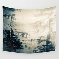 oil Wall Tapestries featuring Oil Spill by Tina Vaughn