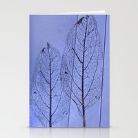 leaf Stationery Cards featuring leaf by Bunny Noir