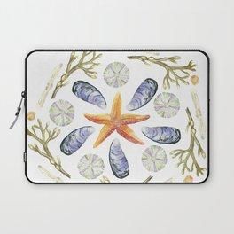 Tide Pool Beach Mandala 3 - Watercolor Laptop Sleeve