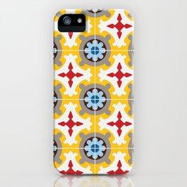 Barcelona retro tile iPhone Case