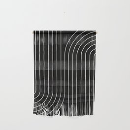 Minimal Line Curvature - Black and White II Wall Hanging