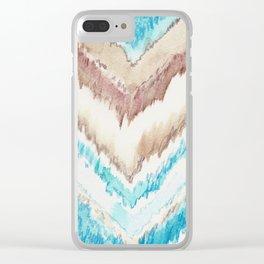 Frozen Chevron Clear iPhone Case