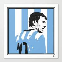 argentina Canvas Prints featuring Messi Argentina by lockerroom51
