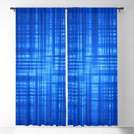 Blue Navy Tartan Striped Pattern Modern Lines Blackout Curtain