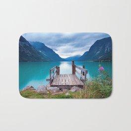 Magnificent Pier In Bergen Norway Ultra HD Bath Mat