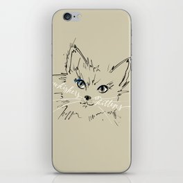 whiskers on kittens iPhone Skin