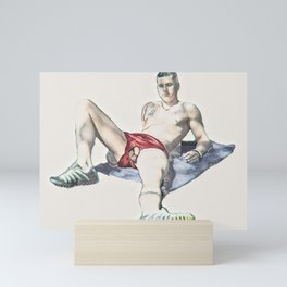 Soccer Boy Mini Art Print