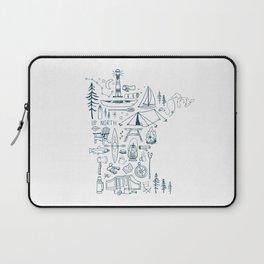 Minnesota Up North Collage Laptop Sleeve