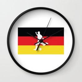 Classic German Flag Football Soccer Wall Clock