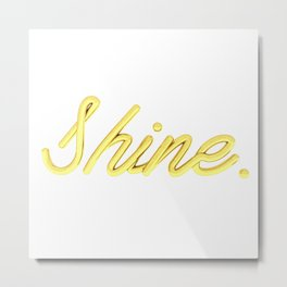 golden shine Metal Print