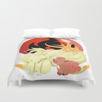 Of Many Tails Duvet Cover