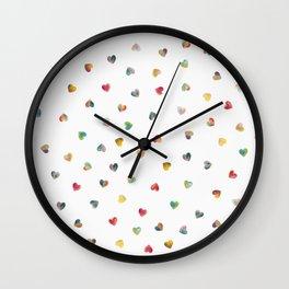 Happy Hearts Wall Clock