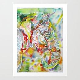 ELEPHANT - watercolor portrait.6 Art Print