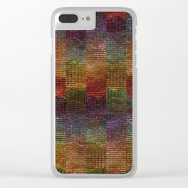 Shimmer Squares Clear iPhone Case